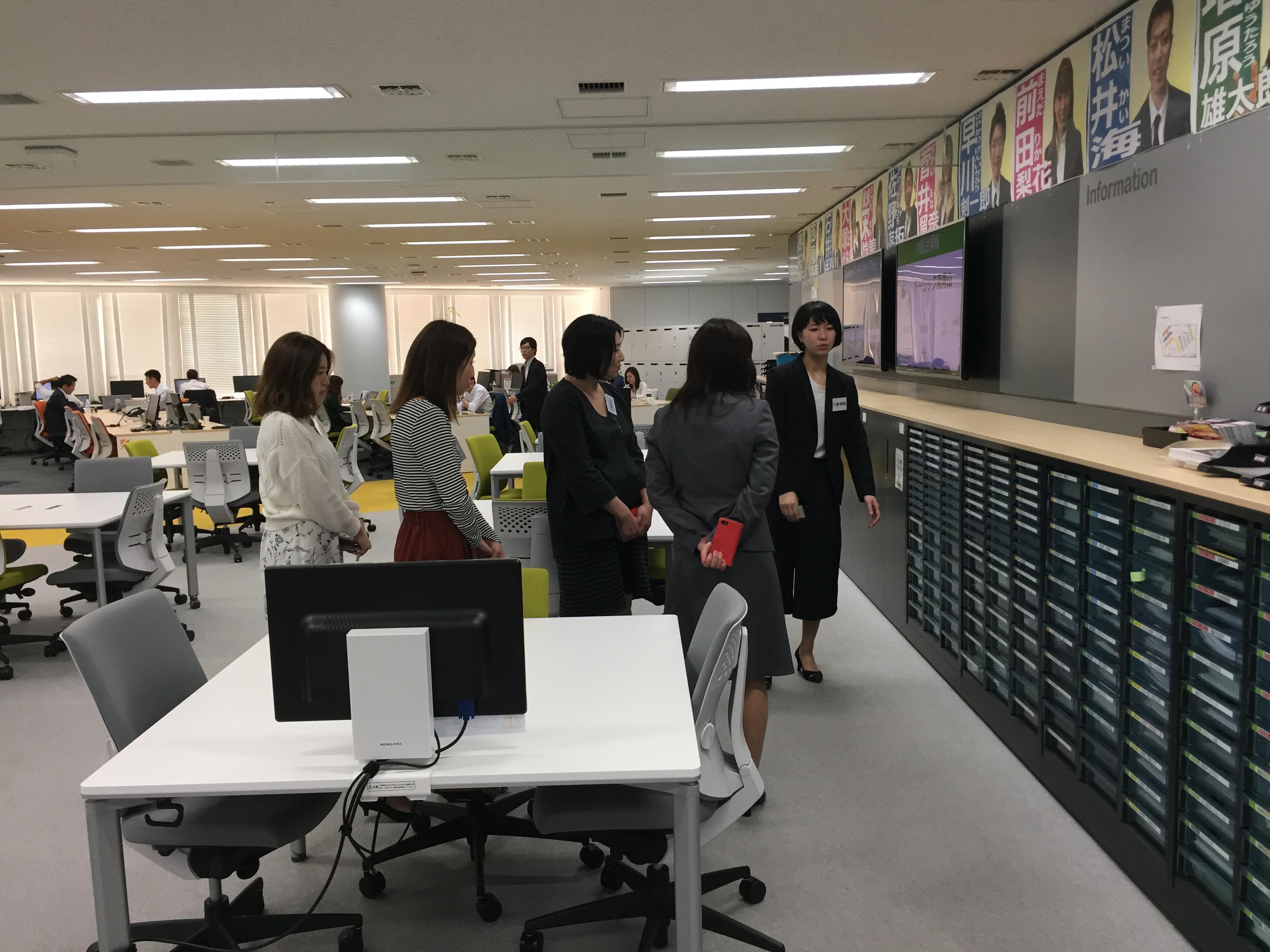 ザイマックスインフォニスタのオフィス『Tri-UP』見学会 (2)